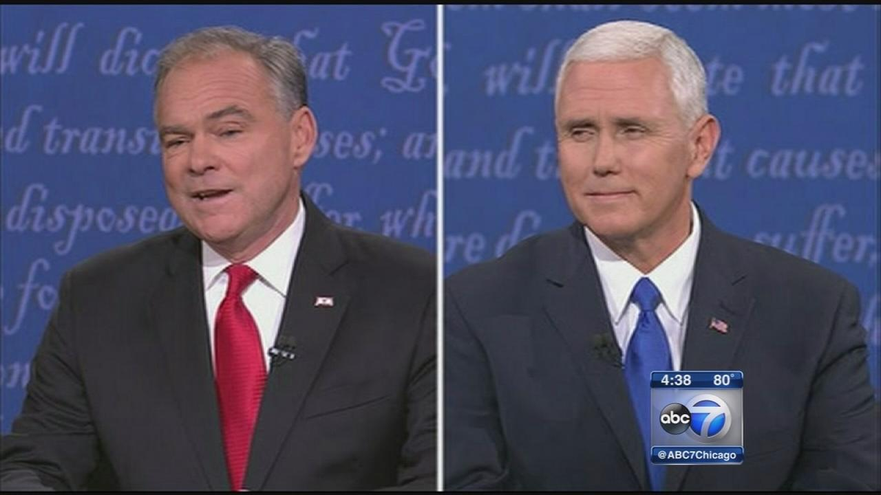 Pence gets wide praise, but Kaine lands jabs on Trump