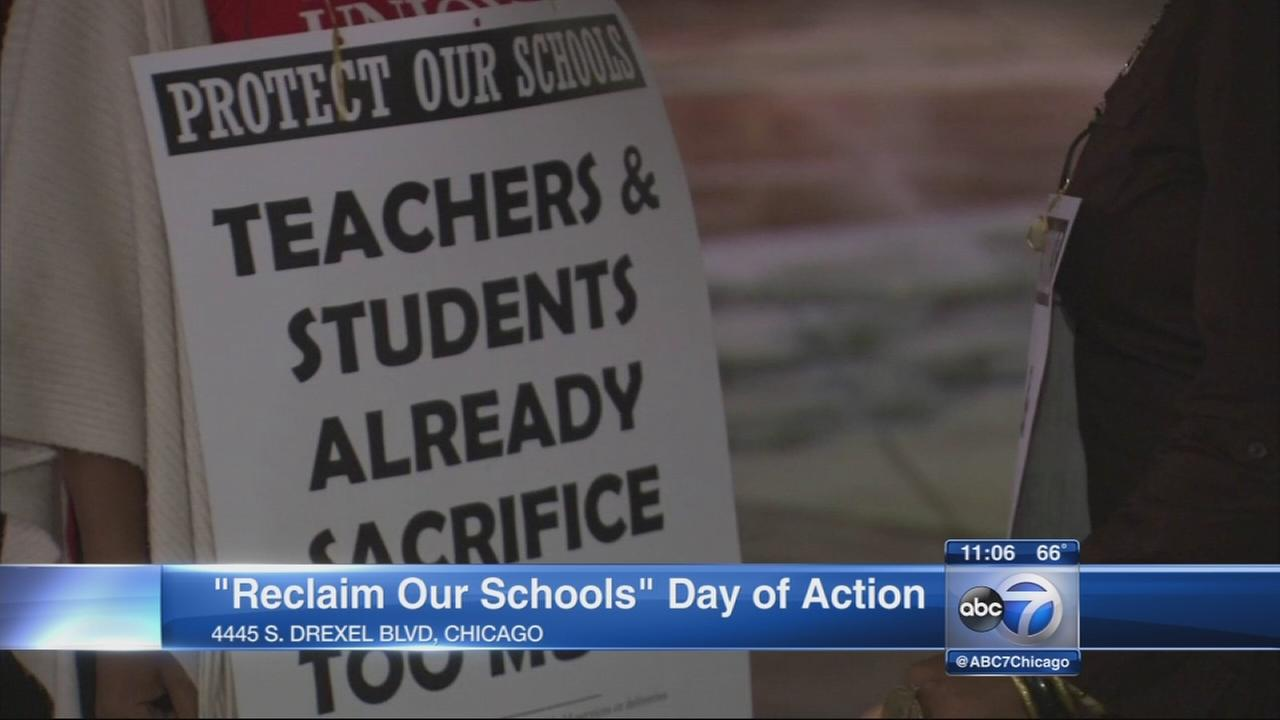Teachers fight for school funding