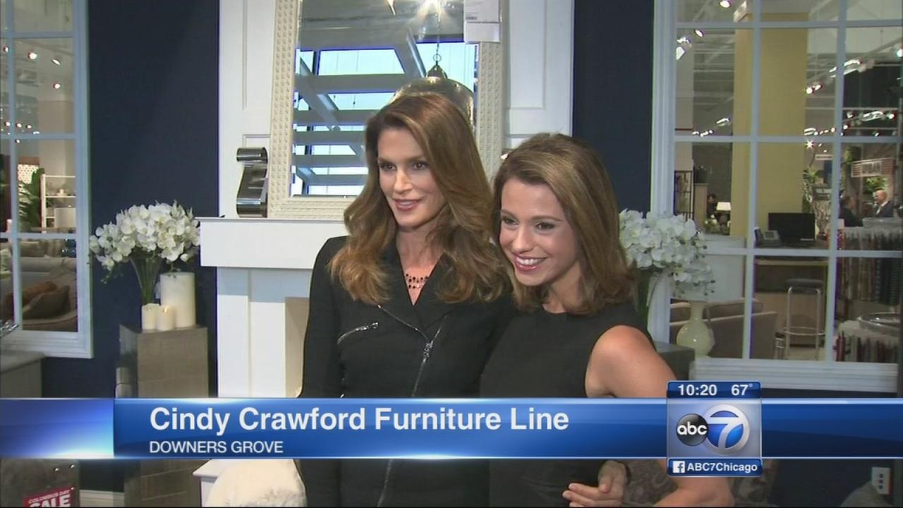 Cindy Crawford debuts new furniture collection for Art Van Furniture
