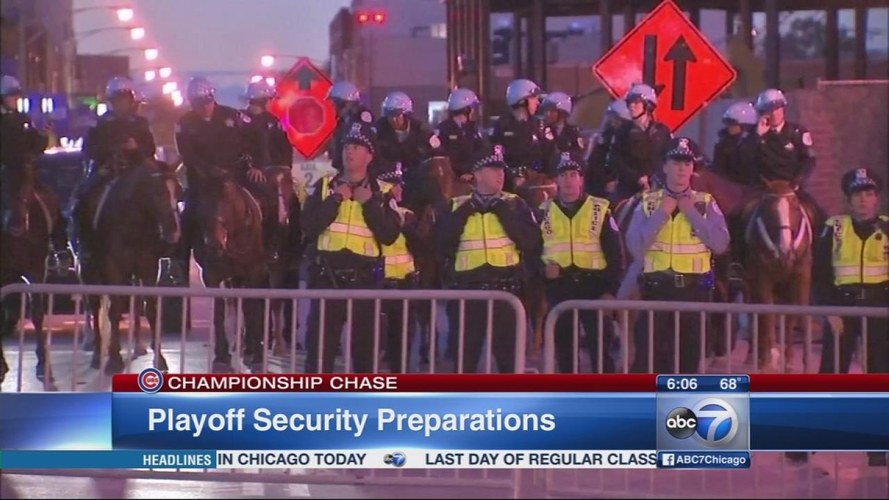 Security preps underway in Wrigleyville