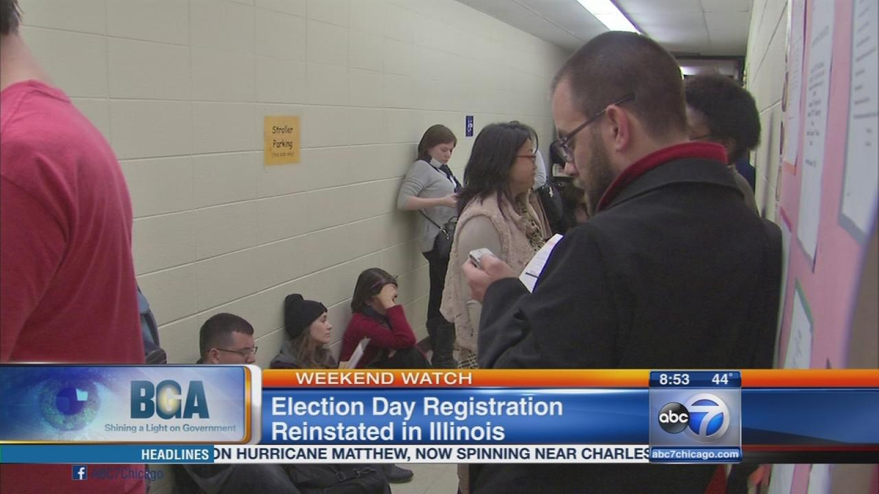 Weekend Watch: Election Day voter registration
