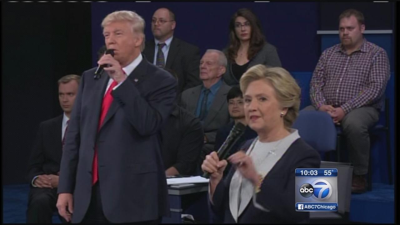 Trump, Clinton square off in second presidential debate