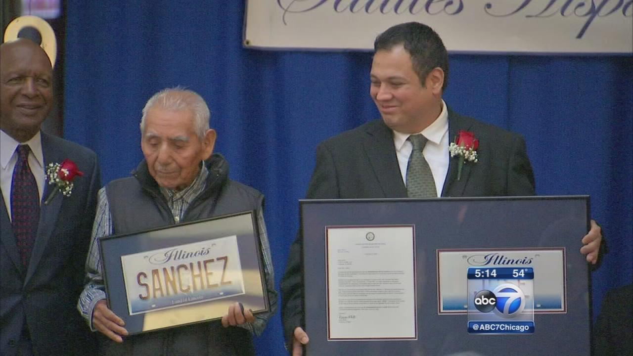 Men who raised money for paleta vendor honored