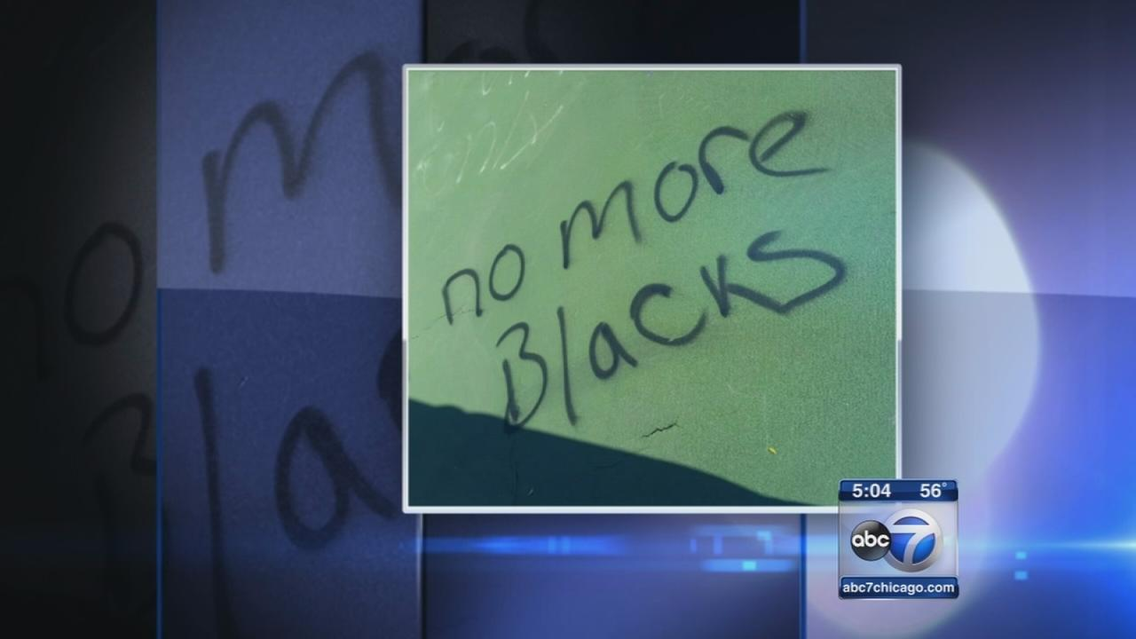 Joliet police investigating racist graffiti as hate crime