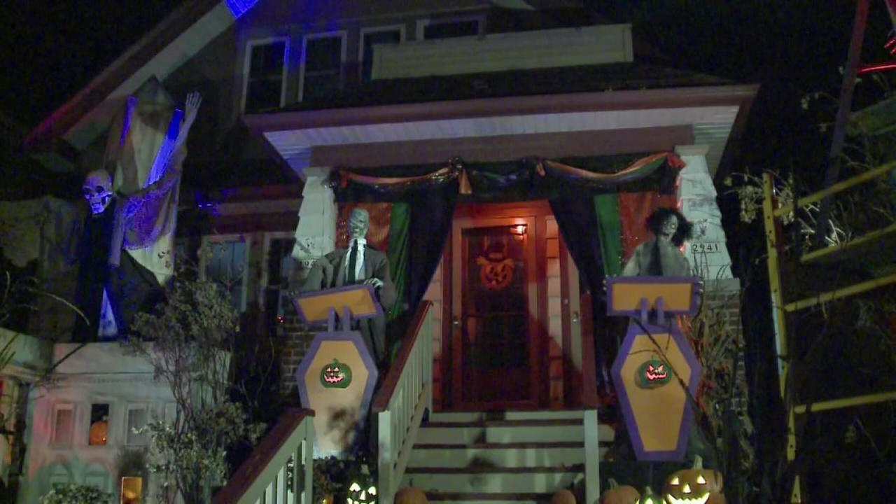 Wis. home puts political twist on Halloween display
