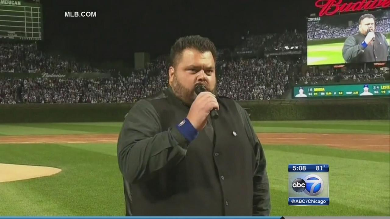 South Sider discovered by Ditka sings anthem at Cubs games