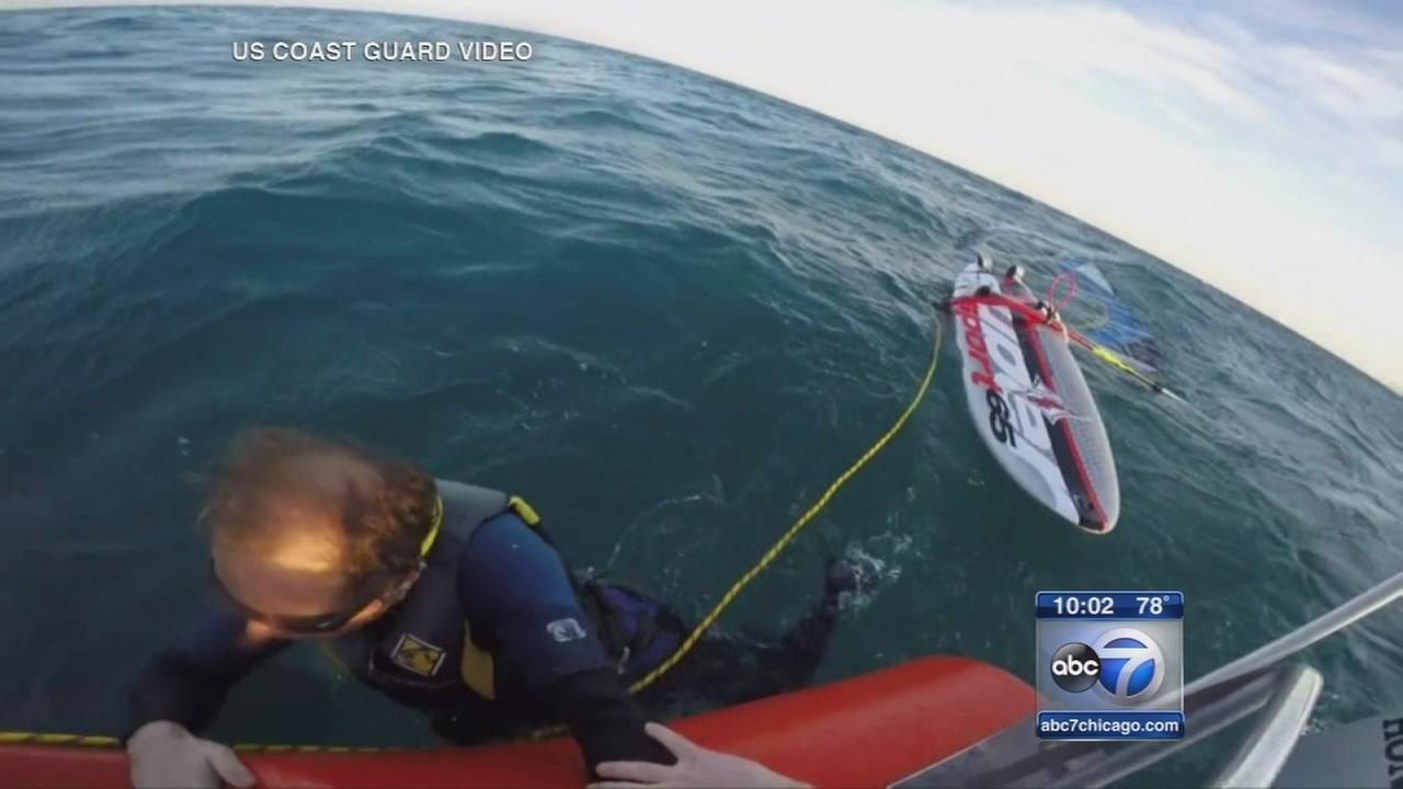 Coast Guard rescues windsurfer on Evanston lakefront