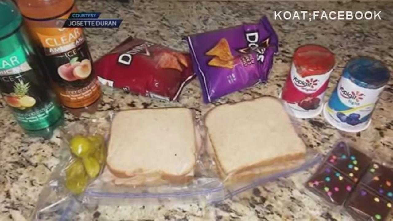 Mom packs 2 lunches for son