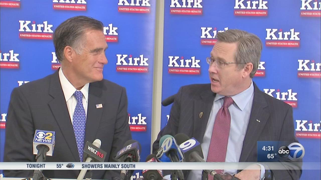 Mitt Romney campains for Mark Kirk