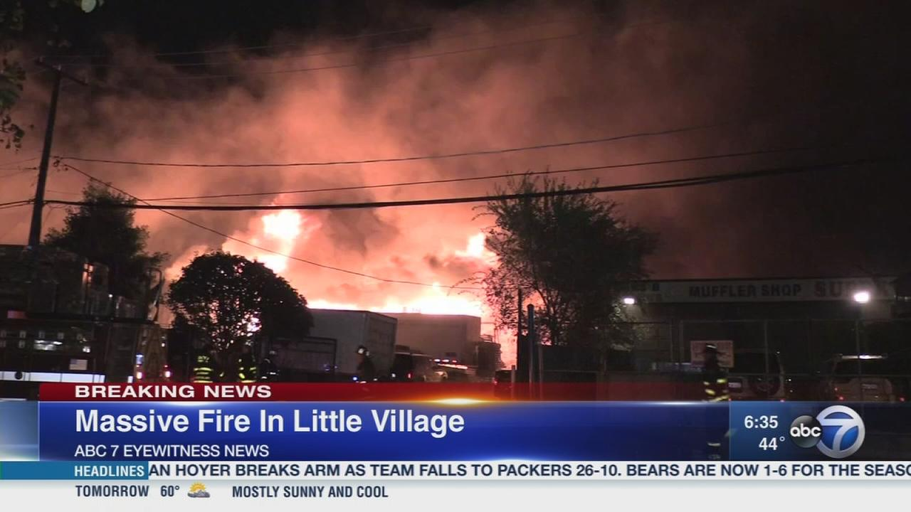 Little Village 5 alarm fire extinguished