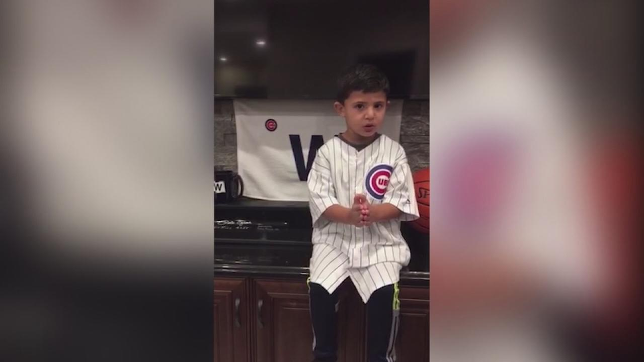 Young fan gives Cubs pep talk ahead of NLCS Game 6