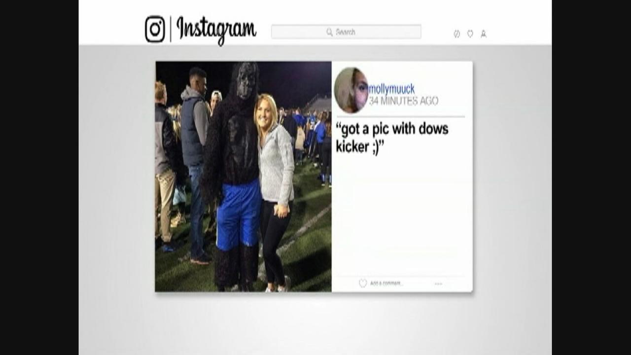 Instagram post mocks female football kicker