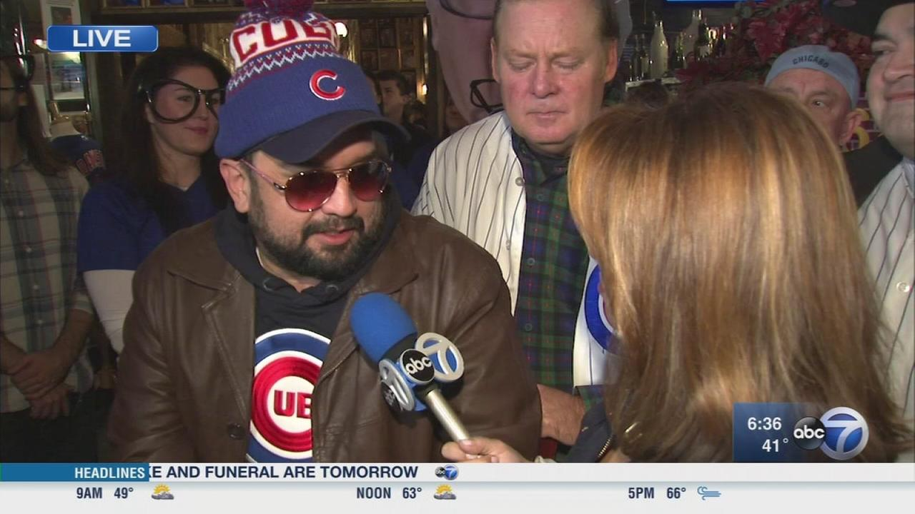 Cubs fans party at Harry Carays
