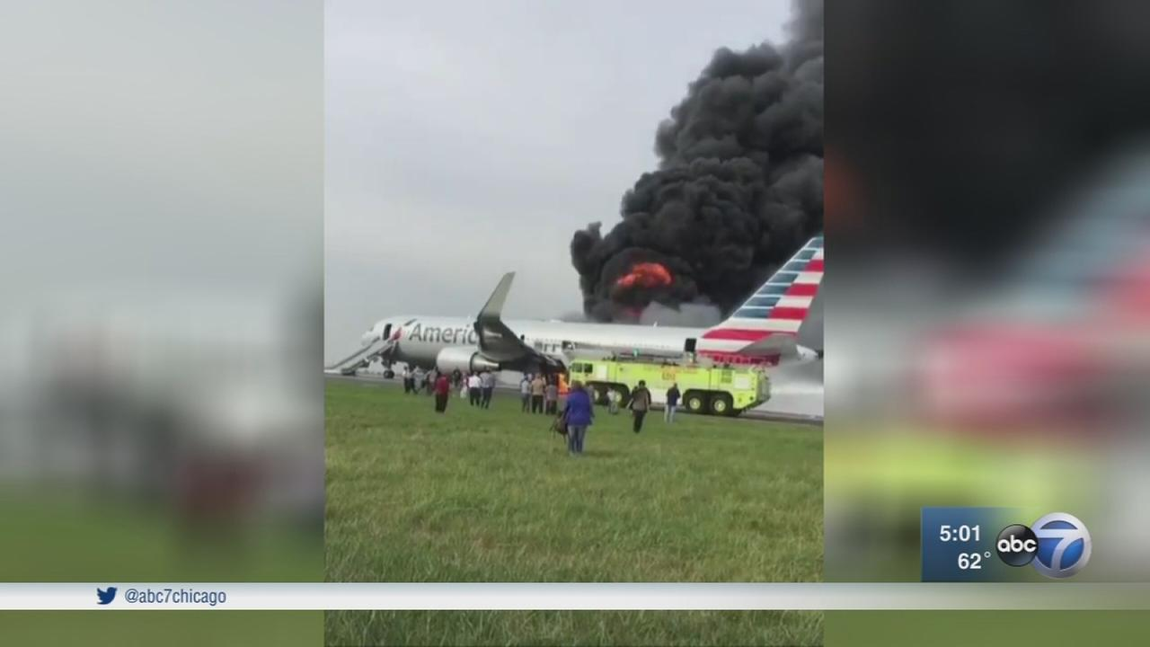 At least 8 injured in plane fire at Ohare