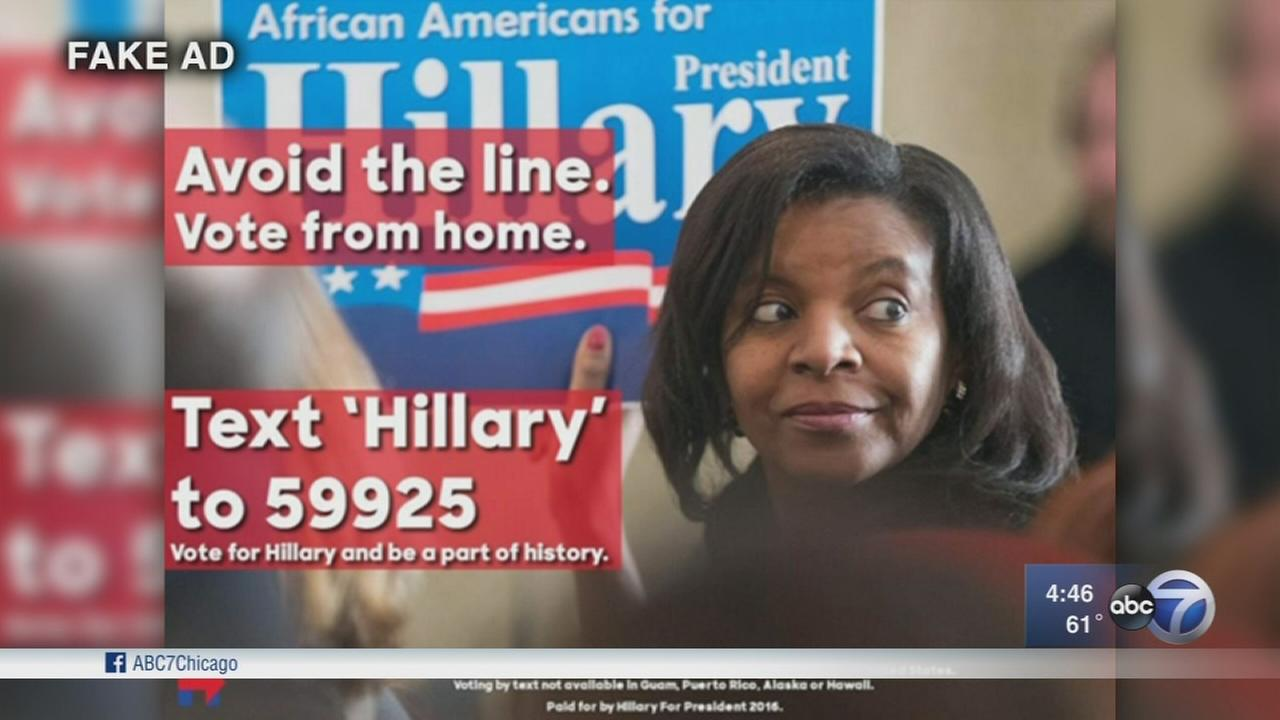 Tweets with fake ad told voters they could cast ballots via text