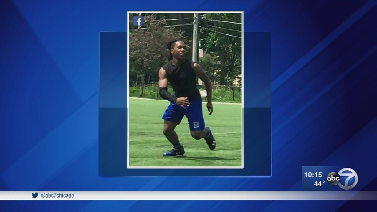 Murdered football star remembered at high school