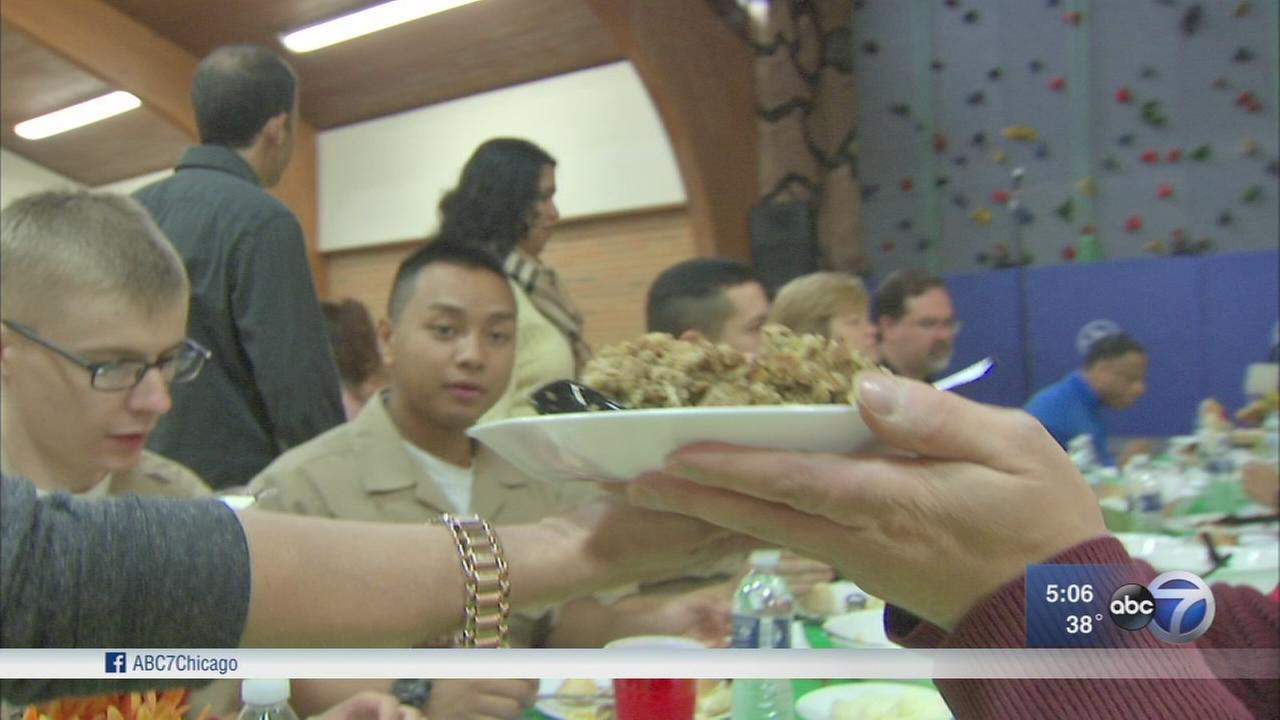 Thanksgiving comes to Great Lakes Naval Base