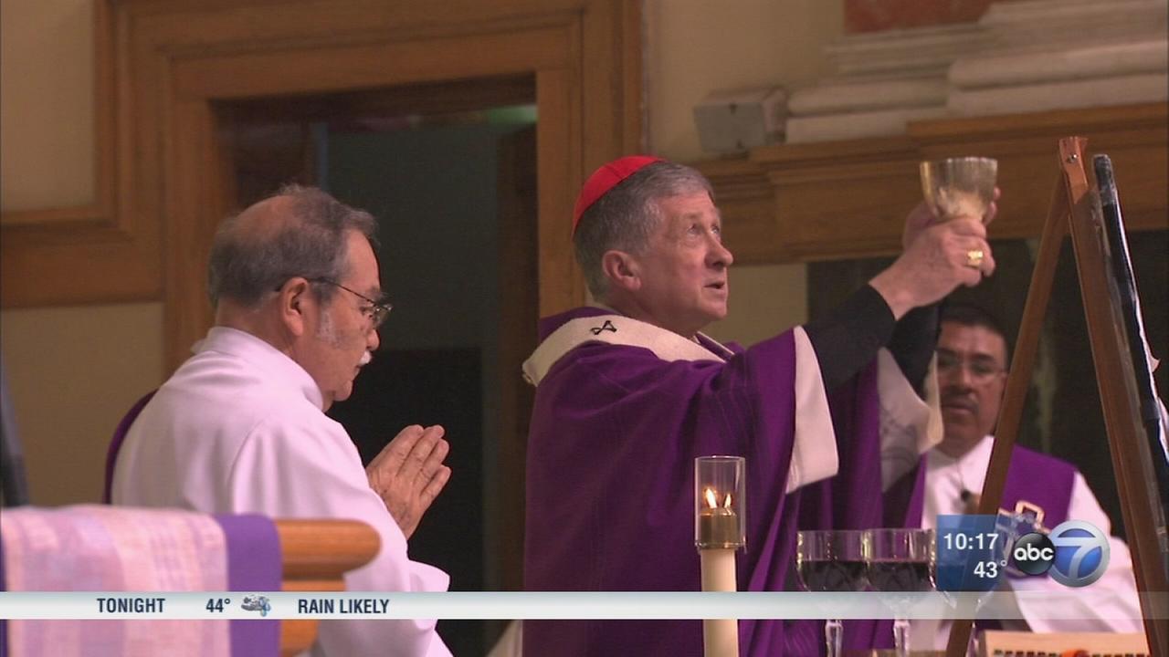 Cardinal Blase Cupich holds Chicago Mass