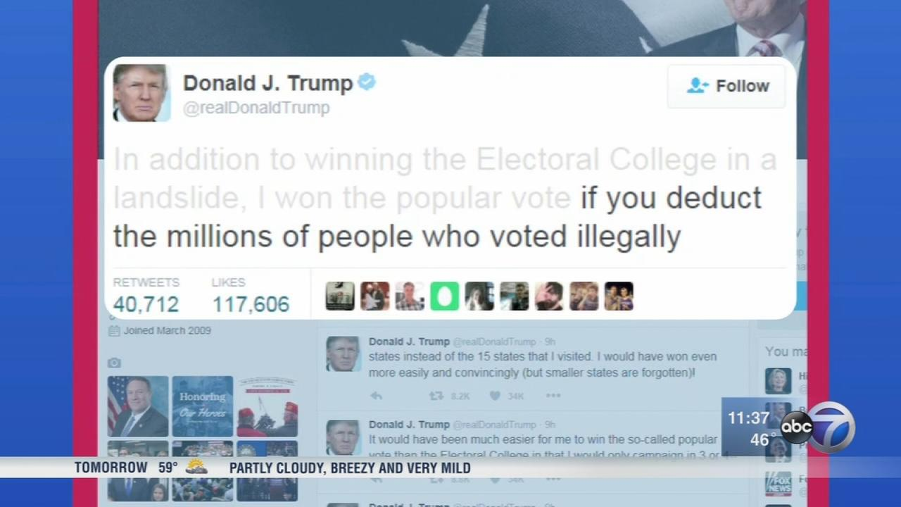 Trump charges, without evidence, millions voted illegally