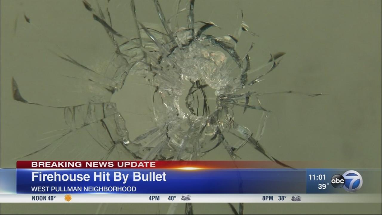 Bullet narrowly misses Chicago firefighter