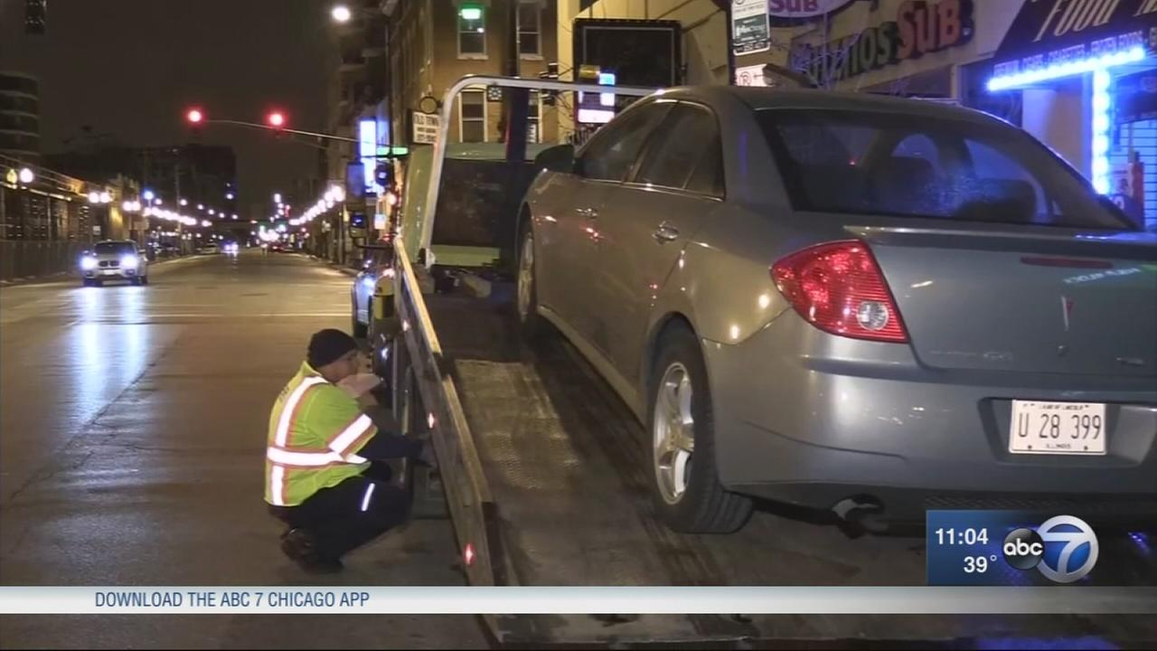 Driveres retrieve cars towed due to parking ban