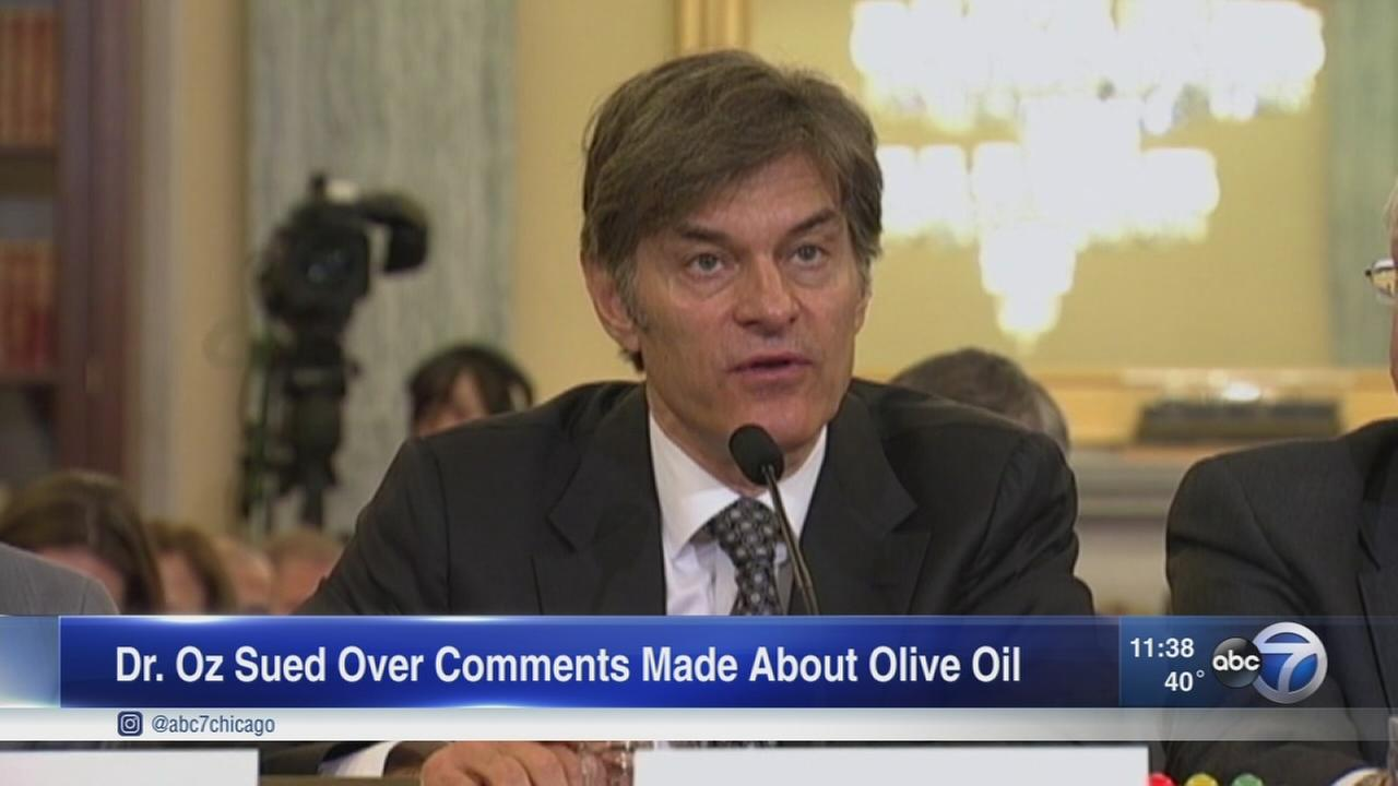 Dr. Oz sued over olive oil comments