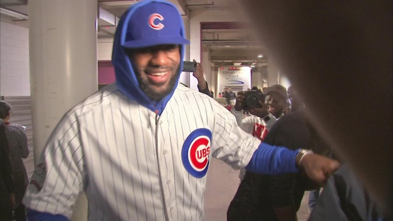 LeBron wears Cubs uniform after losing World Series bet