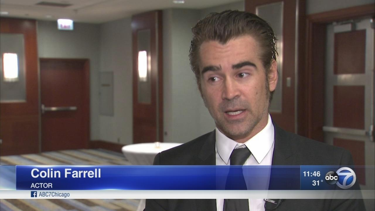 Actor Colin Farrell raises awareness