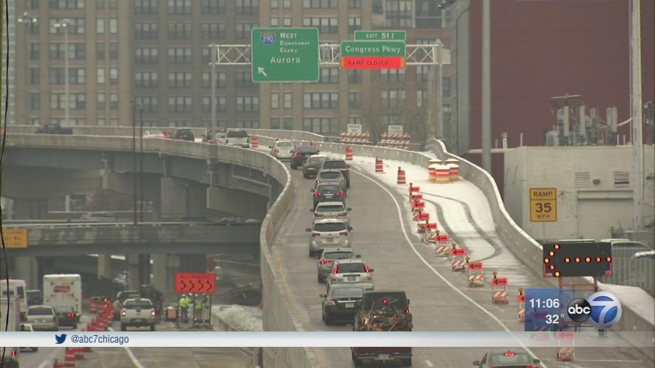 New flyover ramp open on Jane Byrne Interchange