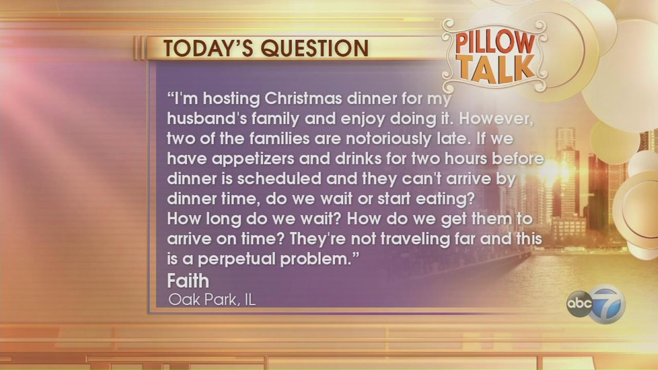 Pillow Talk: Family late for dinner
