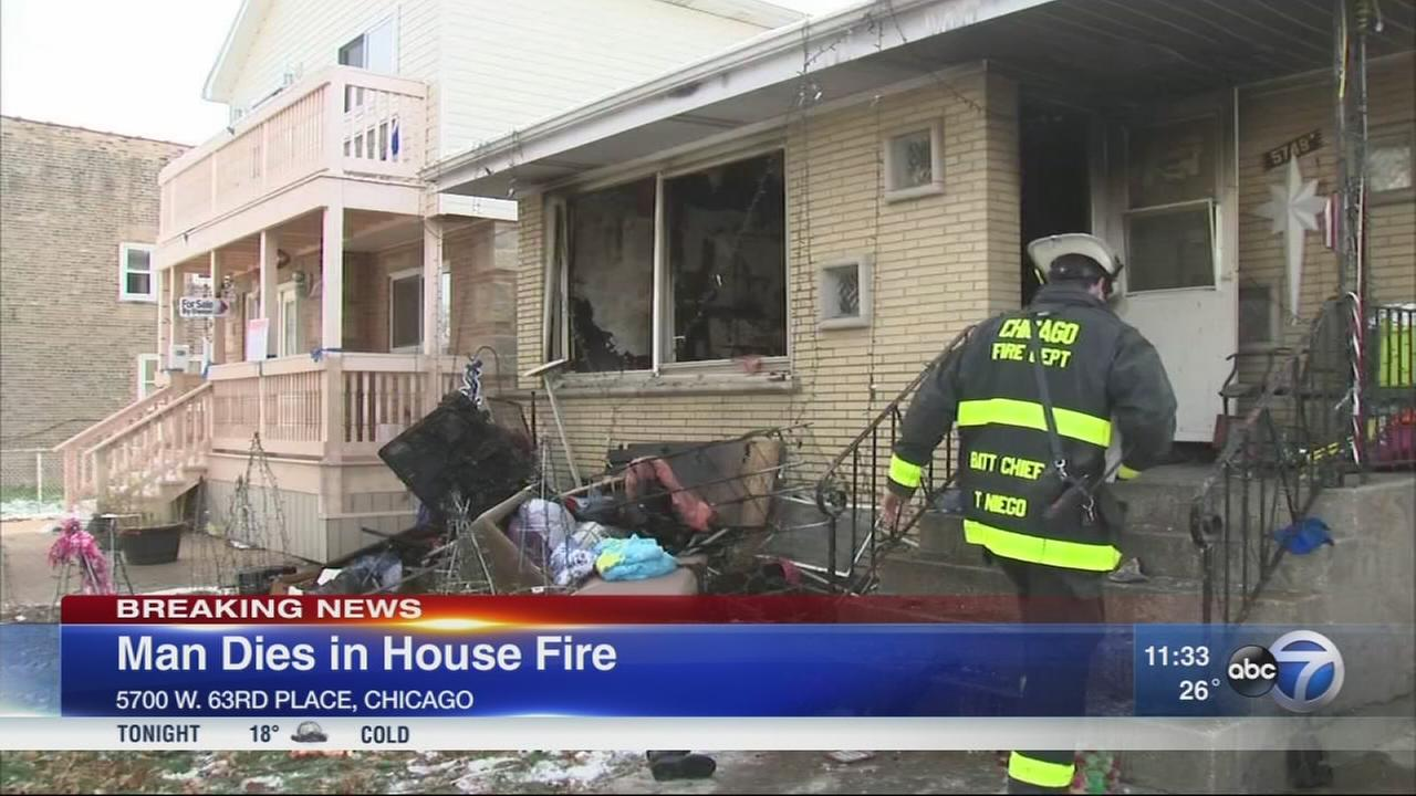 Man dies after Clearing house fire