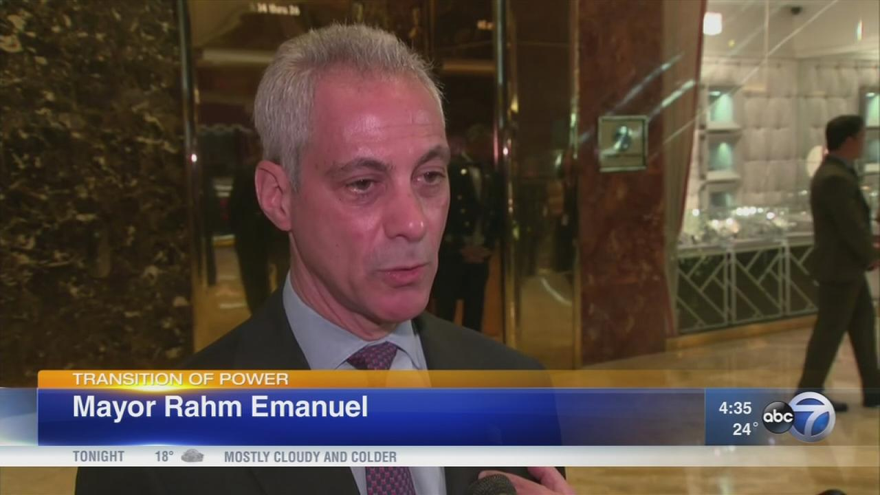 Trump, Emanuel meet in New York