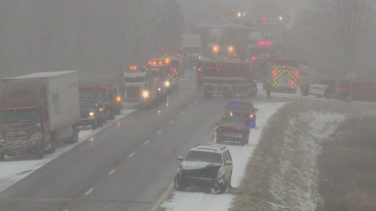 RAW VIDEO: 2 dead in pileup on Michigan interstate