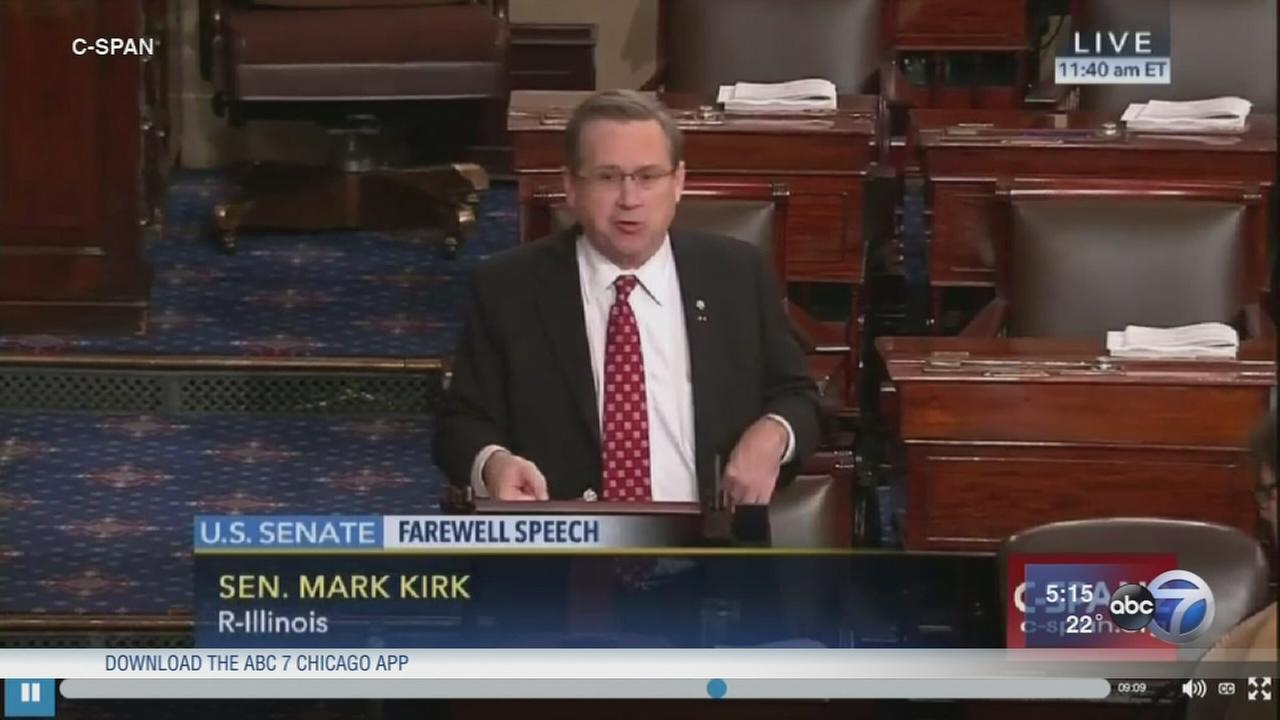 Mark Kirk delivers farewell speech on Senate floor