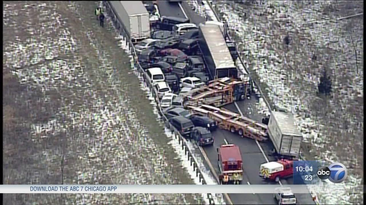 Massive pileup crashes following snow storms; 3 dead in Michigan