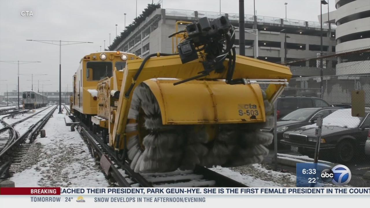 CTA prepares for snow storms