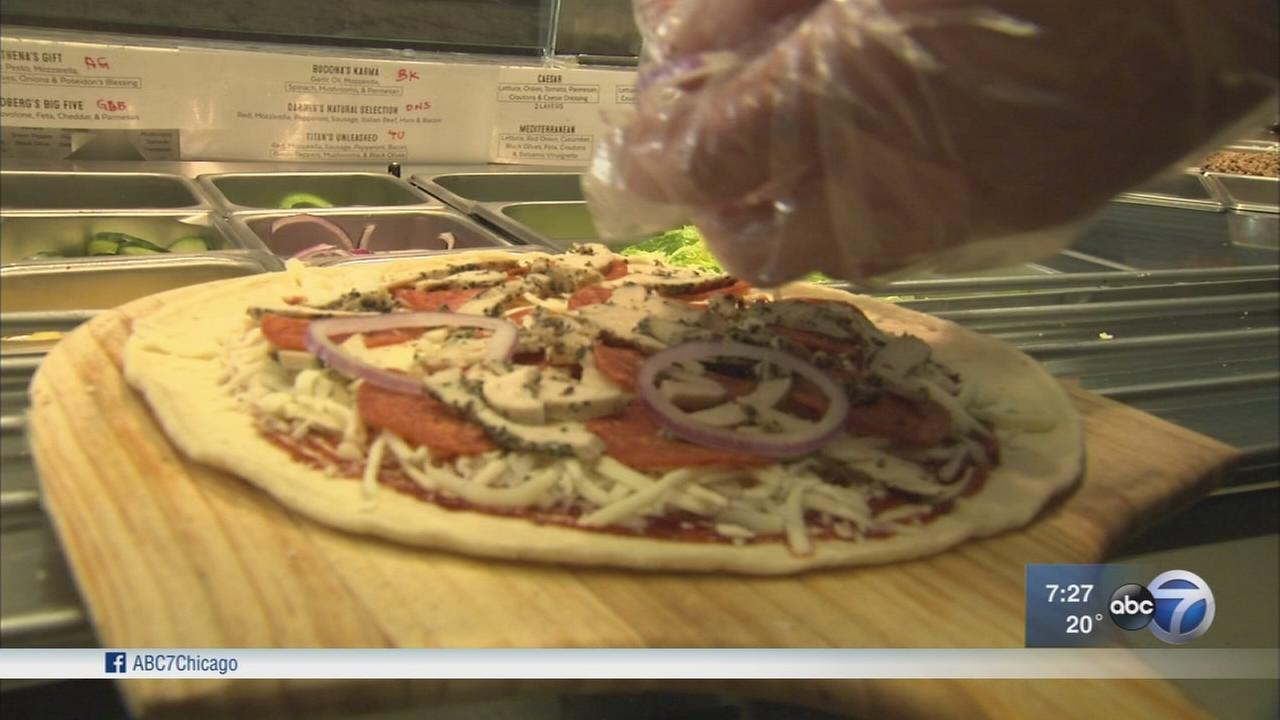 Olive Theory Pizzeria donates pizza to food banks