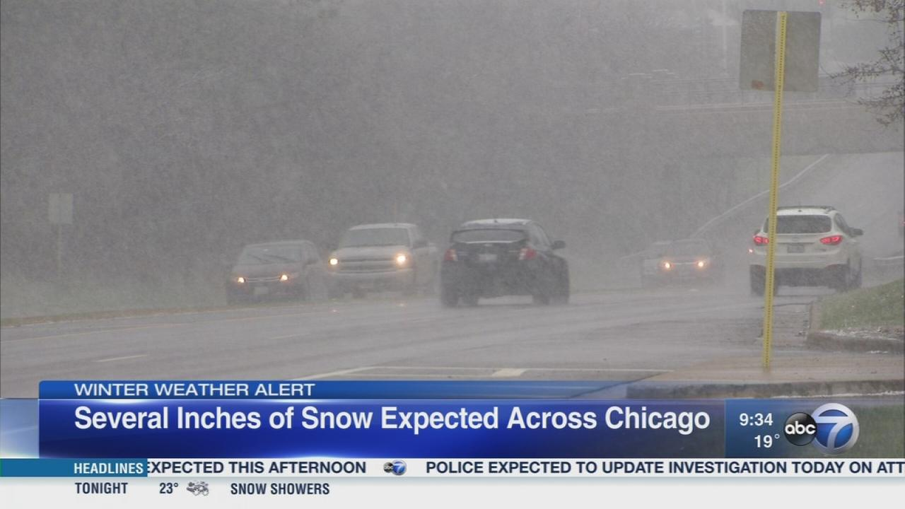 Snowstorms headed for Chicago
