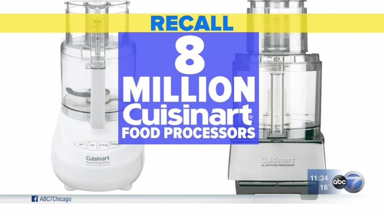 Cuisinart food processors recalled