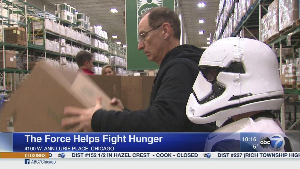 Volunteers use The Force to fight hunger in Chicago area
