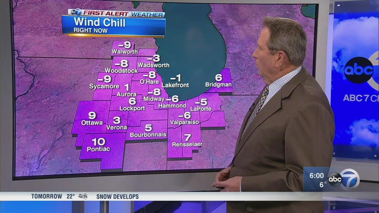 Temperatures plummet well below freezing Thursday