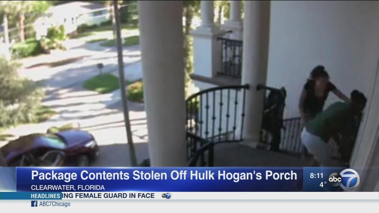 Package thieves target Hulk Hogan