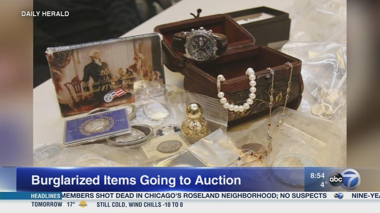 Daily Herald: Gurnee police to auction items stolen by burglar