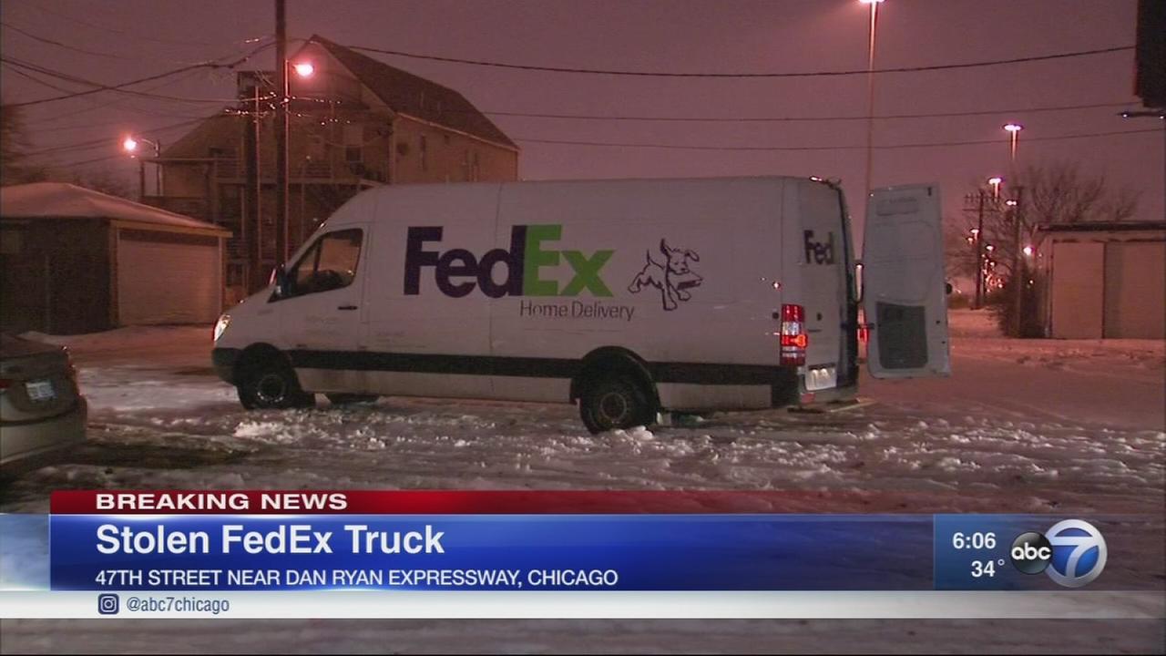 FedEx truck stolen in Chicago