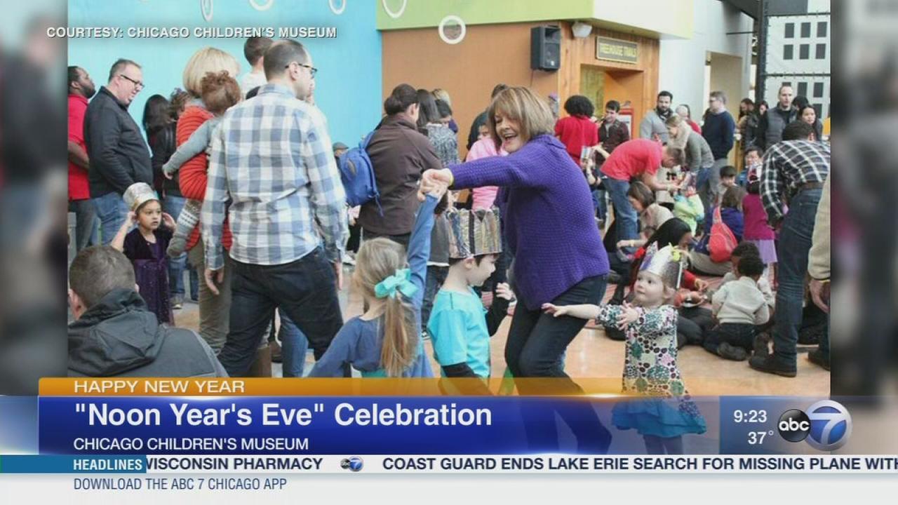 Children celebrate ?Noon Year?s Eve?
