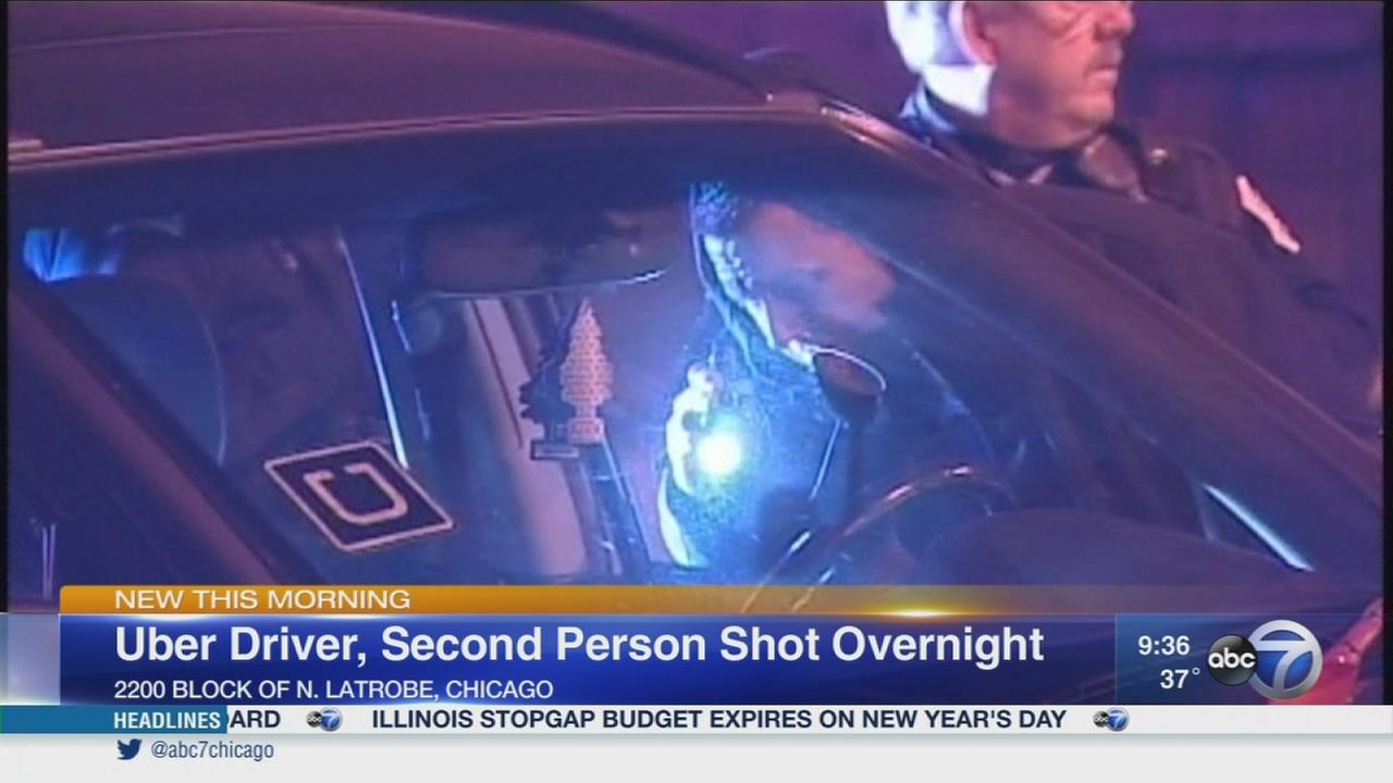 2 shot, including Uber driver, on NW Side