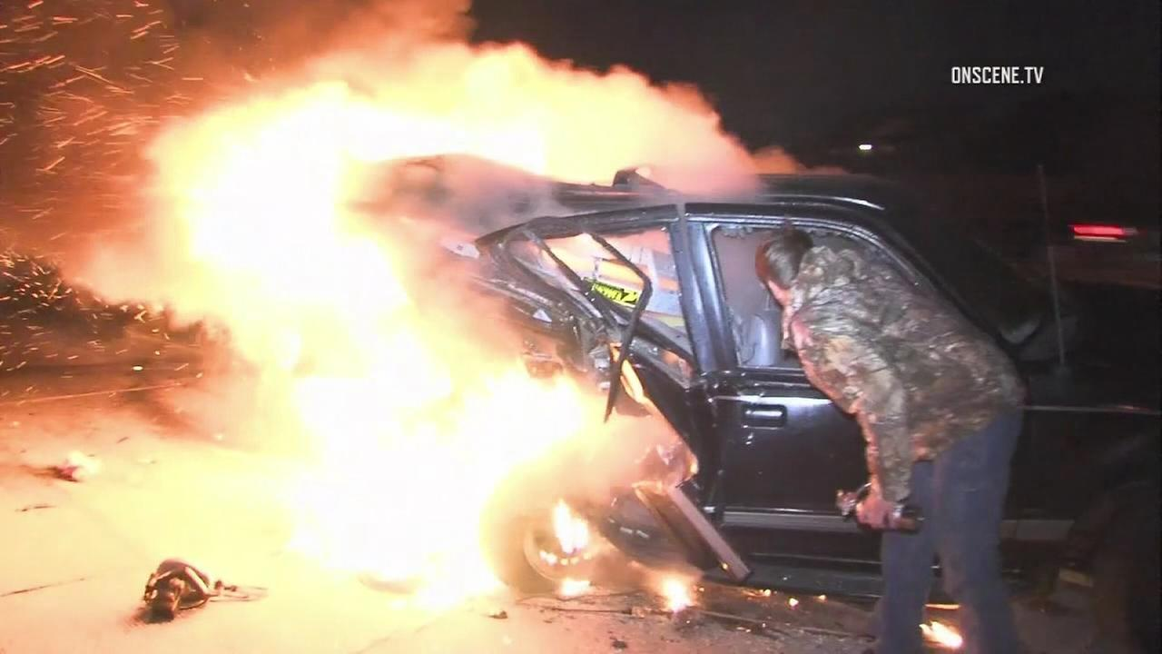 Photographer rescued driver from fiery crash