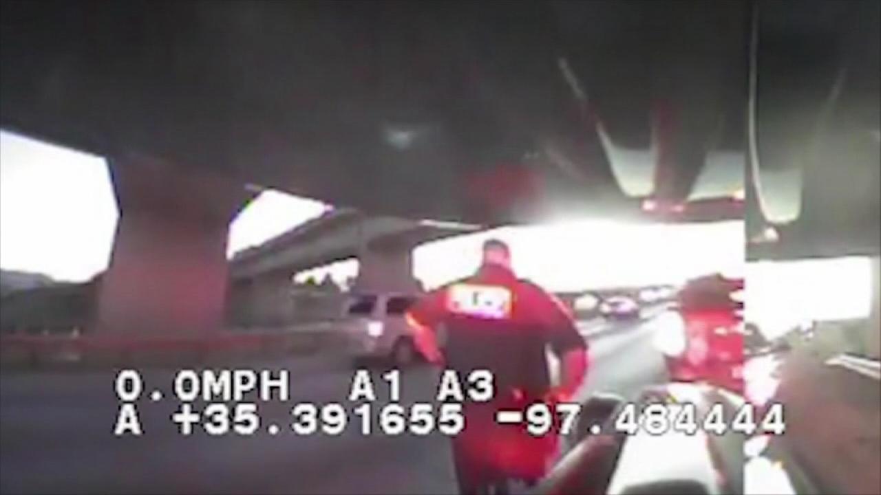 Good Samaritan tends to officer shot