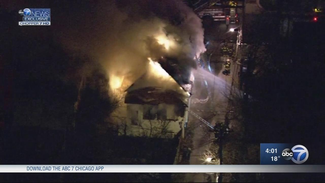 Firefighters battle fire in Roseland