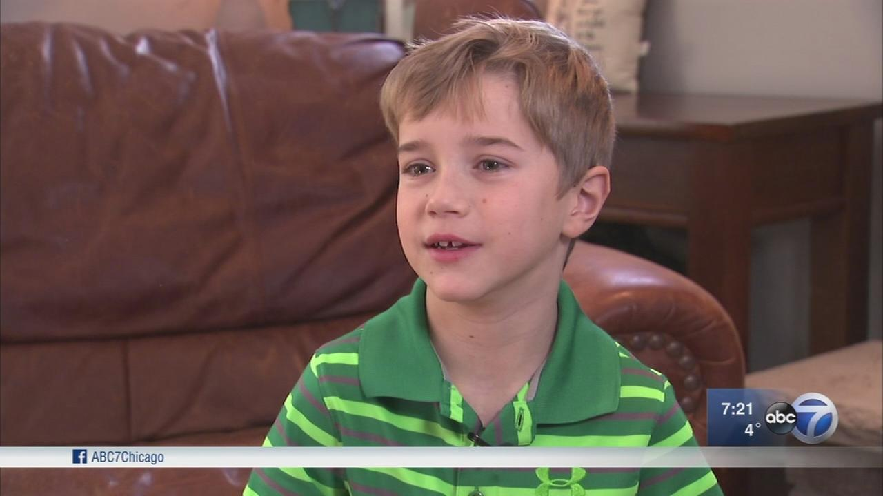 Blood donations help 7-year-old with heart condition